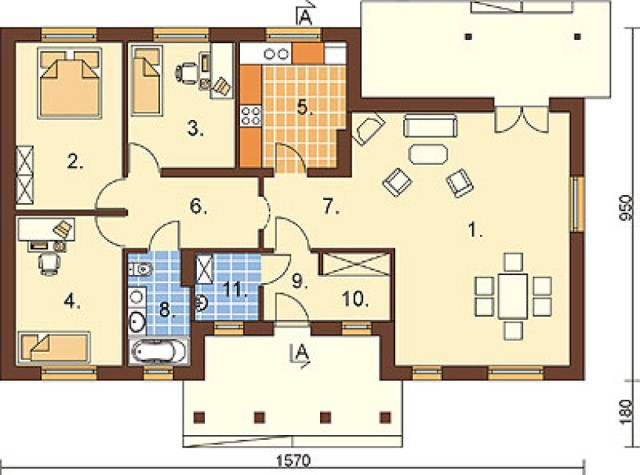 Contemporary house 3 bedrooms 2 bathrooms  (1)