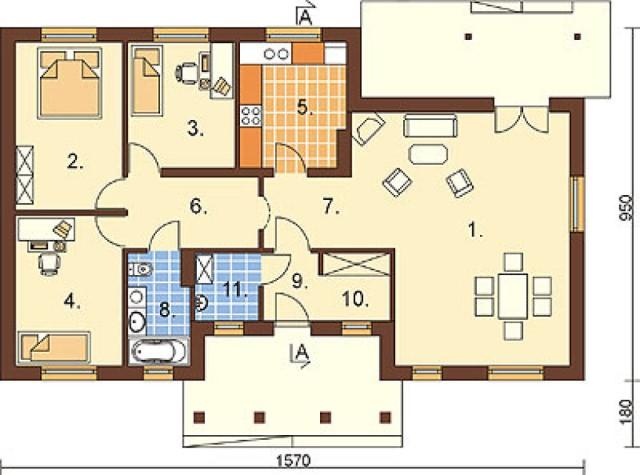 Contemporary house 3 bedrooms 2 bathrooms  (1)