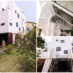 ทาวน์โฮมสไตล์โมเดิร์น ดีไซน์รูปทรงกล่อง โทนสีขาว แปลกตาด้วยพื้นที่ภายในบ้าน ไอเดียรับกับบ้านบนพื้นที่จำกัด