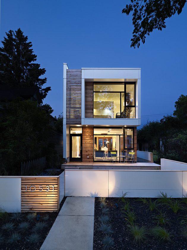 Two-story contemporary narrow home (14)