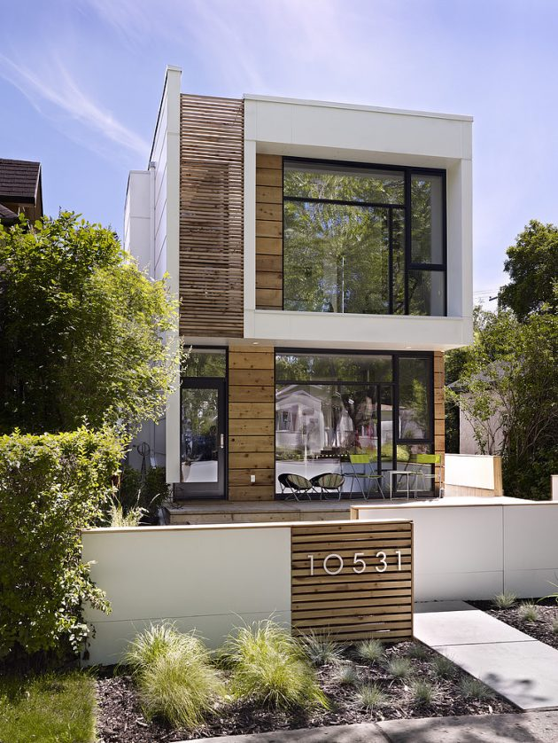 Two-story contemporary narrow home (15)