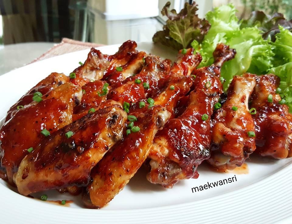 bbq sauce chicken wings recipe
