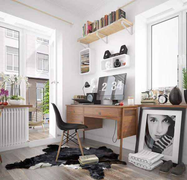 black-and-white-scandinavian-workspace