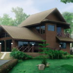 แบบบ้านสไตล์ไทยประยุกต์ แต่งไม้สวยคลาสสิค ผสานเสน่ห์ดั้งเดิมเข้ากับโครงสร้างที่ทันสมัย