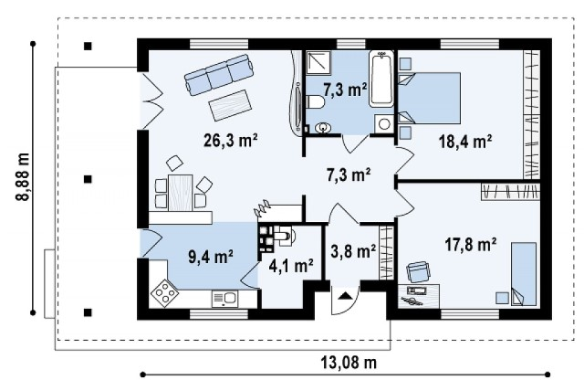 contemporary-house-2-bedroom-1-bathroom-3