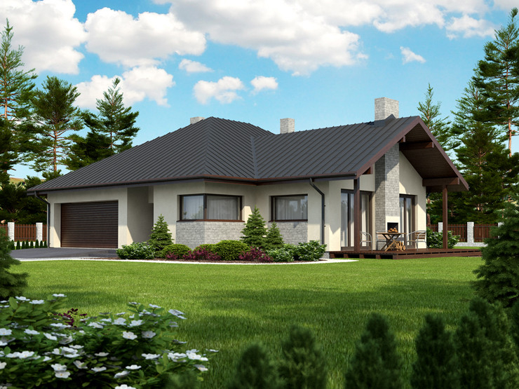 contemporary house 3 bedroom Decorating with natural (4)