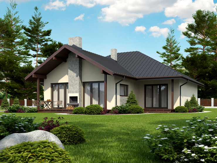contemporary house 3 bedroom Decorating with natural (5)