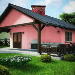 แบบบ้านขนาดเล็ก 1 ห้องนอน โทนสีชมพูน่ารัก ในงบประมาณราว 4.9 แสนบาท