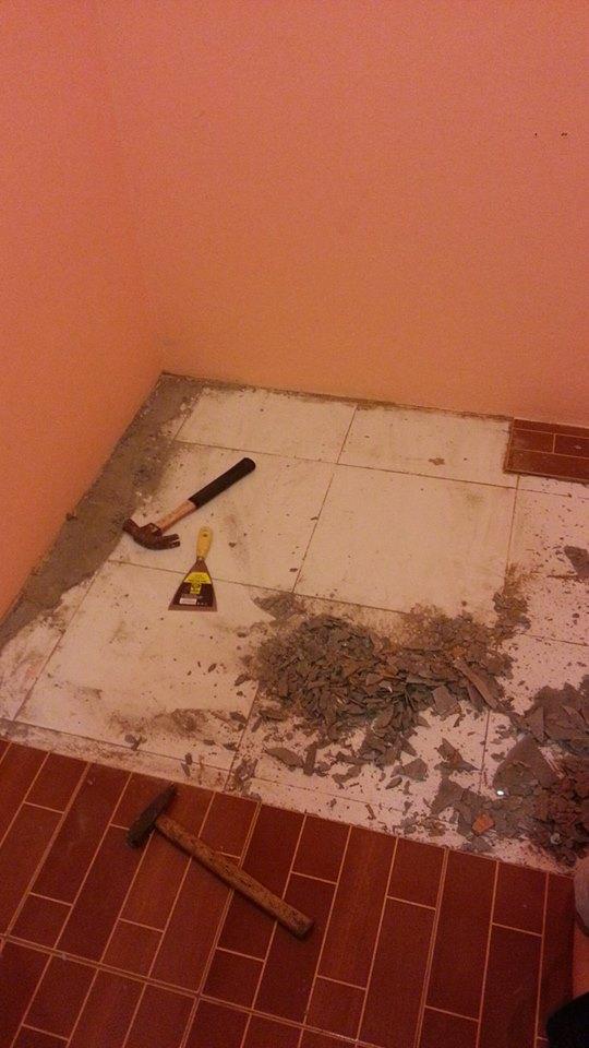 fix tile floor diy (2)