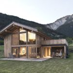 แบบบ้านไม้กลางวิวภูเขา กลิ่นอายโมเดิร์นมินิมอล ให้ชีวิตกลมกลืนไปกับธรรมชาติที่เรียบง่าย
