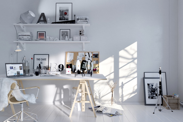 minimalist-white-scandinavian-workspace
