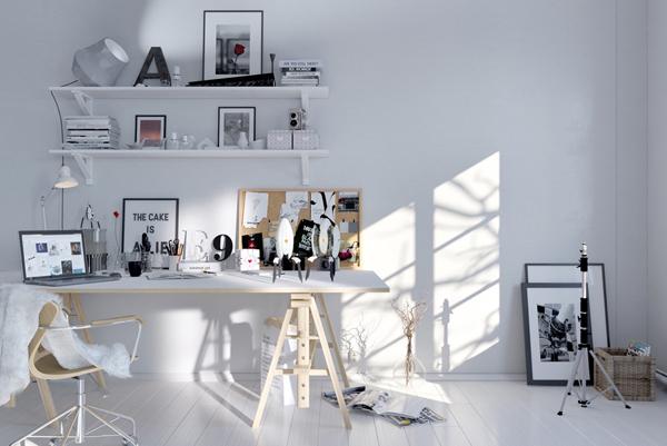 minimalist-white-scandinavian-workspace