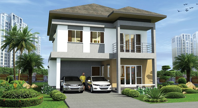 modern hiproof house in urban area (1)