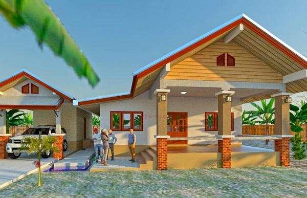 one storey rural gable house (1)
