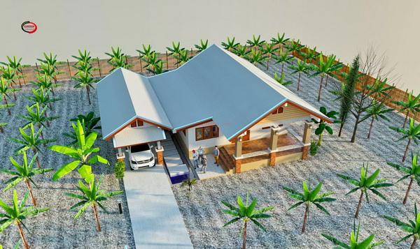 one storey rural gable house (2)