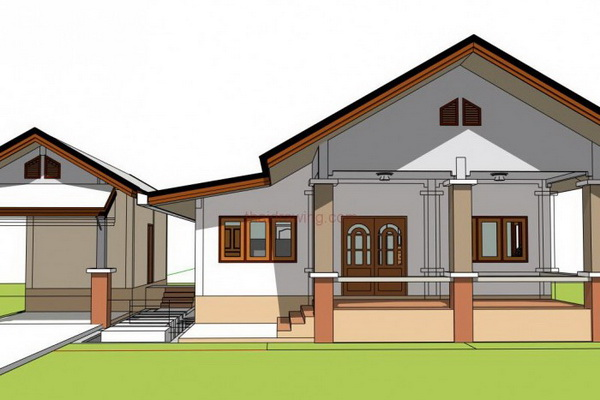 one storey rural gable house (3)