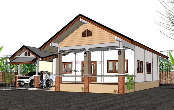 one storey rural gable house (4)