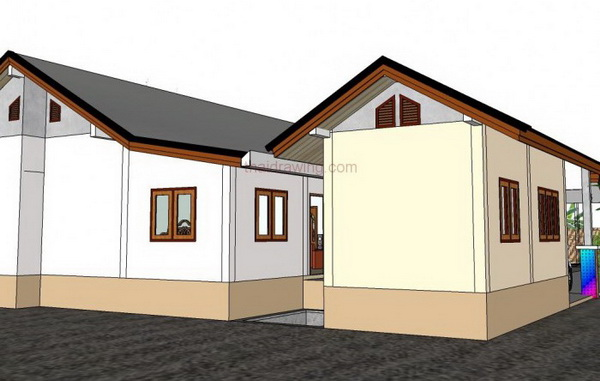 one storey rural gable house (5)