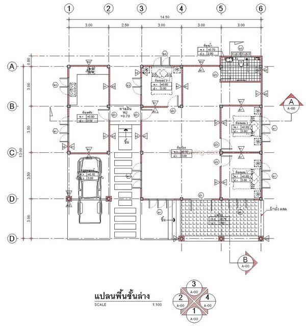 one storey rural gable house (6)
