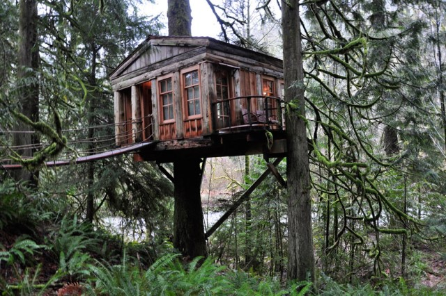 tree house ideas for the garden home (3)
