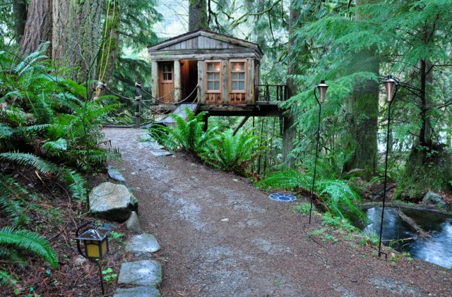 tree house ideas for the garden home (4)