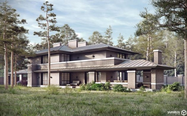 two storey modern House villas style  (12)