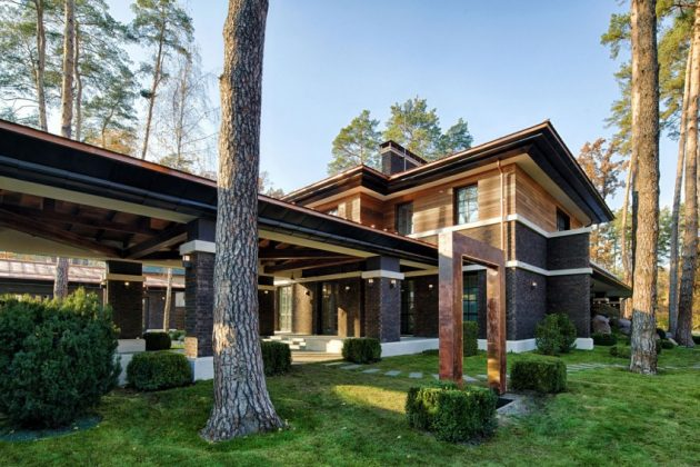 two storey modern House villas style  (2)