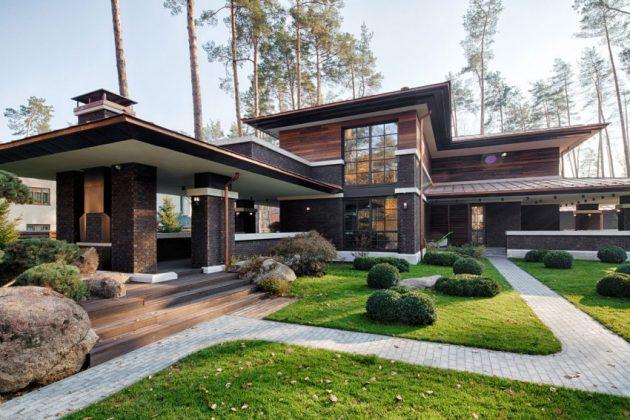 two storey modern House villas style  (3)