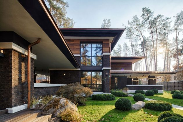 two storey modern House villas style  (4)