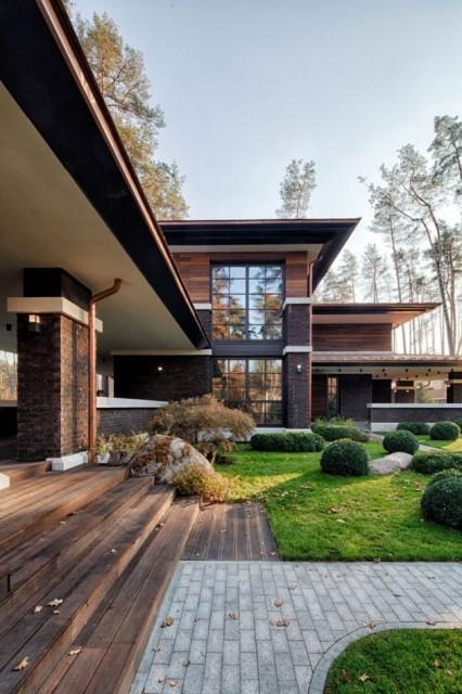 two storey modern House villas style  (5)