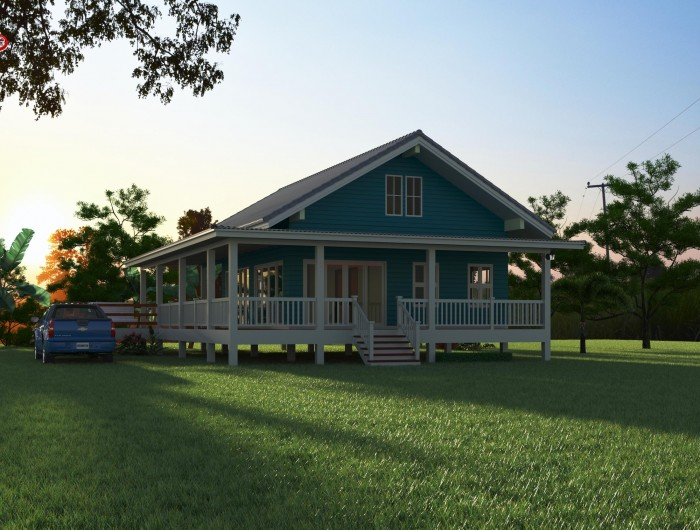 1-storey-classic-blue-villa-house-with-long-patio-3