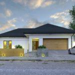 บ้านเดี่ยวขนาดกลาง ออกแบบภายในให้มี 3 ห้องนอน 3 ห้องน้ำ มีความภูมิฐานในรูปทรง รองรับครอบครัวสมัยใหม่ โดนใจคนไทยไม่น้อย
