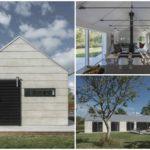 บ้านคอทเทจสมัยใหม่ มีขนาดเล็กๆ ออกแบบในแนวยาว โทนสีดำขาว ตกแต่งภายในแบบมินิมอล