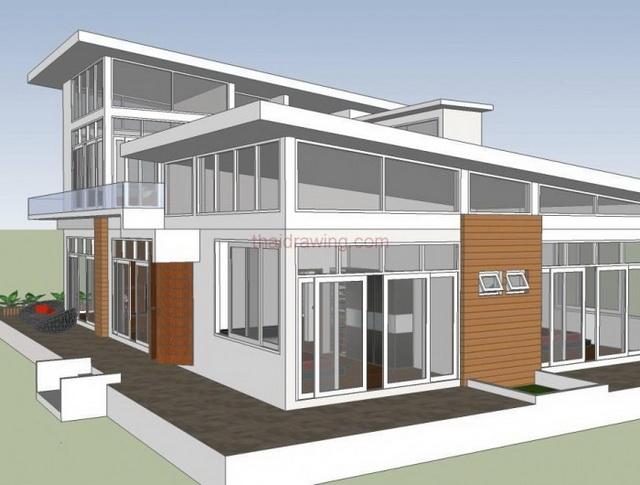 2-storey-modern-glass-wall-house-plan-1
