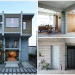 บ้านสองชั้น ออกแบบหลังเล็กๆกะทัดรัด วัสดุจากบล็อกคอนกรีต ตกแต่งสไตล์ลอฟท์ ให้อารมณ์แบบดิบๆ อาร์ตๆ