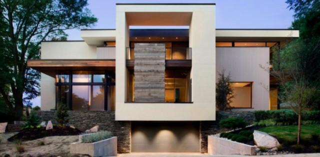 บ้านโมเดิร์นขนาดกลาง โทนสีเทา ขาว ดำ วัสดุตกแต่งเพิ่มเติม