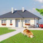 บ้านร่วมสมัย ขนาดเล็กๆ หลังคาทรงปั้นหยา 2 ห้องนอน 2 ห้องน้ำ รองรับครอบครัวแรกเริ่ม