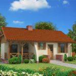 บ้านสวนร่วมสมัย ขนาดเล็ก ภายใน 2 ห้องนอน 1 ห้องน้ำ ตกแต่งเรียบง่ายด้วยงานไม้