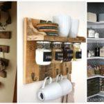 """54 ไอเดีย """"ใช้พื้นที่ในครัวให้คุ้มค่า"""" ด้วยการ DIY สร้างง่ายๆ ใช้งานได้จริง ทำได้ไม่ยาก"""