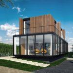 บ้านโมเดิร์นรูปทรงกล่อง ดูโทนด้วยการเล่นสีจากวัสดุ เหล็ก ไม้ กระจก ครบครันตามแบบบ้านสมัยใหม่