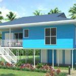 บ้านไม้สไตล์บังกะโล ออกแบบให้ยกใต้ถุนสูง 3 ห้องนอน 2 ห้องน้ำ