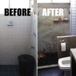 Review : รีโนเวทห้องน้ำเล็กๆ ให้เป็นผนังปูนเปลือยขัดมัน ทันสมัยน่าใช้งาน