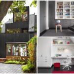 บ้านโมเดิร์นสามชั้น ดีไซน์กะทัดรัด ออกแบบด้วยวัสดุทันสมัย ไอเดียใหญ่ๆบนสวยหย่อมร่มรื่น