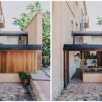 บ้านสตูดิโอ ขนาดเล็กๆ ตกแต่งแบบมินิมอล งานไม้ เหล็ก คอนกรีตผสมกันอย่างลงตัว ไอเดียที่เหมาะกับร้านกาแฟ คาเฟ่ ร้านอาหาร