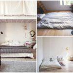 """""""นอนกับพื้น """" 41 ไอเดีย ห้องนอนที่เรียบง่าย ในรูปแบบ DIY เตียงเตี้ย และฟูกที่นอน"""