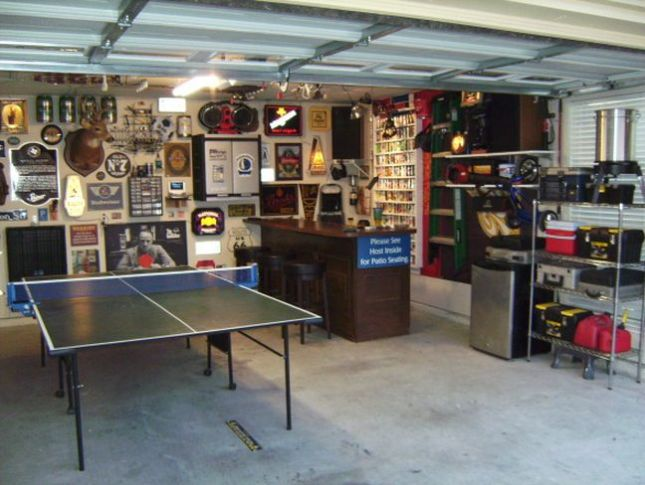 43 for 2 car garage man cave