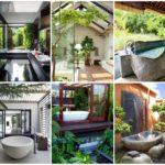 60 พื้นที่อาบน้ำ สไตล์ทรอปิคอล ความสุขของการอาบน้ำที่อิงแอบธรรมชาติ