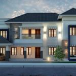 บ้านร่วมสมัย ขนาดใหญ่สองชั้น มีความภูมิฐาน รองรับรสนิยมของครอบครัวสมัยใหม่