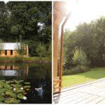 บ้านสวนสไตล์คอทเทจ หลังเล็กๆริมน้ำ ปรับเปลี่ยนฟังก์ชันง่ายดาย เพียงแค่เลื่อนผนังบ้าน