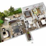 มาใหม่!! รวม 73 แปลนบ้านขนาดเล็ก 3 มิติ โชว์สีสันและวัสดุภายในบ้าน เห็นภาพ เข้าใจง่าย